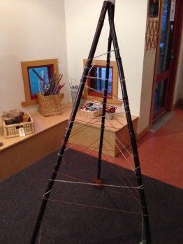 Bamboo frame with wool