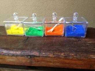 Powerder Paints in cosmetic plastic jars
