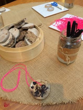 Wooden Pendant Necklaces